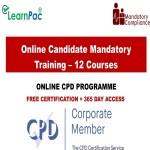 Online Candidate Mandatory Training – 12 Courses – Mandatory Training Group UK –