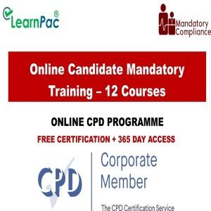 Online Candidate Mandatory Training – 12 Courses - Mandatory Training Group UK -