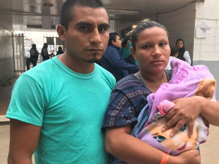 Baby girl born on the migrant caravan now in intensive care - The Mandatory Training Group UK -