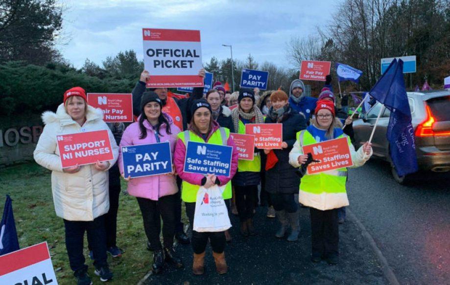 Nurses go on strike across Northern Ireland - MTG UK -