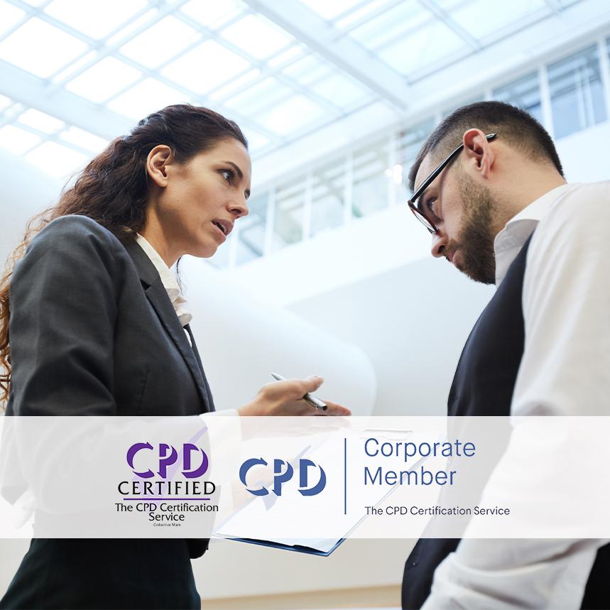 Conflict Management Courses - Online Training Courses - Mandatory Compliance UK -