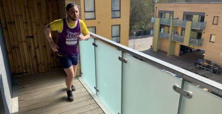 Coronavirus - Self-isolating London man runs half marathon on balcony - The Mandatory Training Group UK