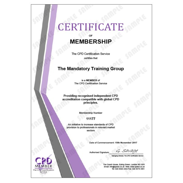 First Aid Requirements – E-Learning Course – CDPUK Accredited – Mandatory Compliance UK –