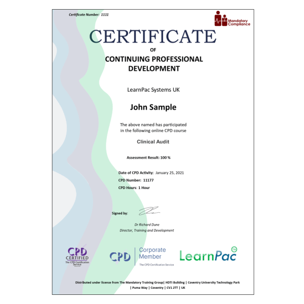 Clinical Audit – eLearning Course – CPD Certified – Mandatory Compliance UK –
