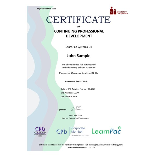 Essential Communication Skills – eLearning Course – CPD Certified – Mandatory Compliance UK –