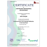 Communication and Language Difficulties in the Early Years – eLearning Course – CPD Certified – Mandatory Compliance UK –