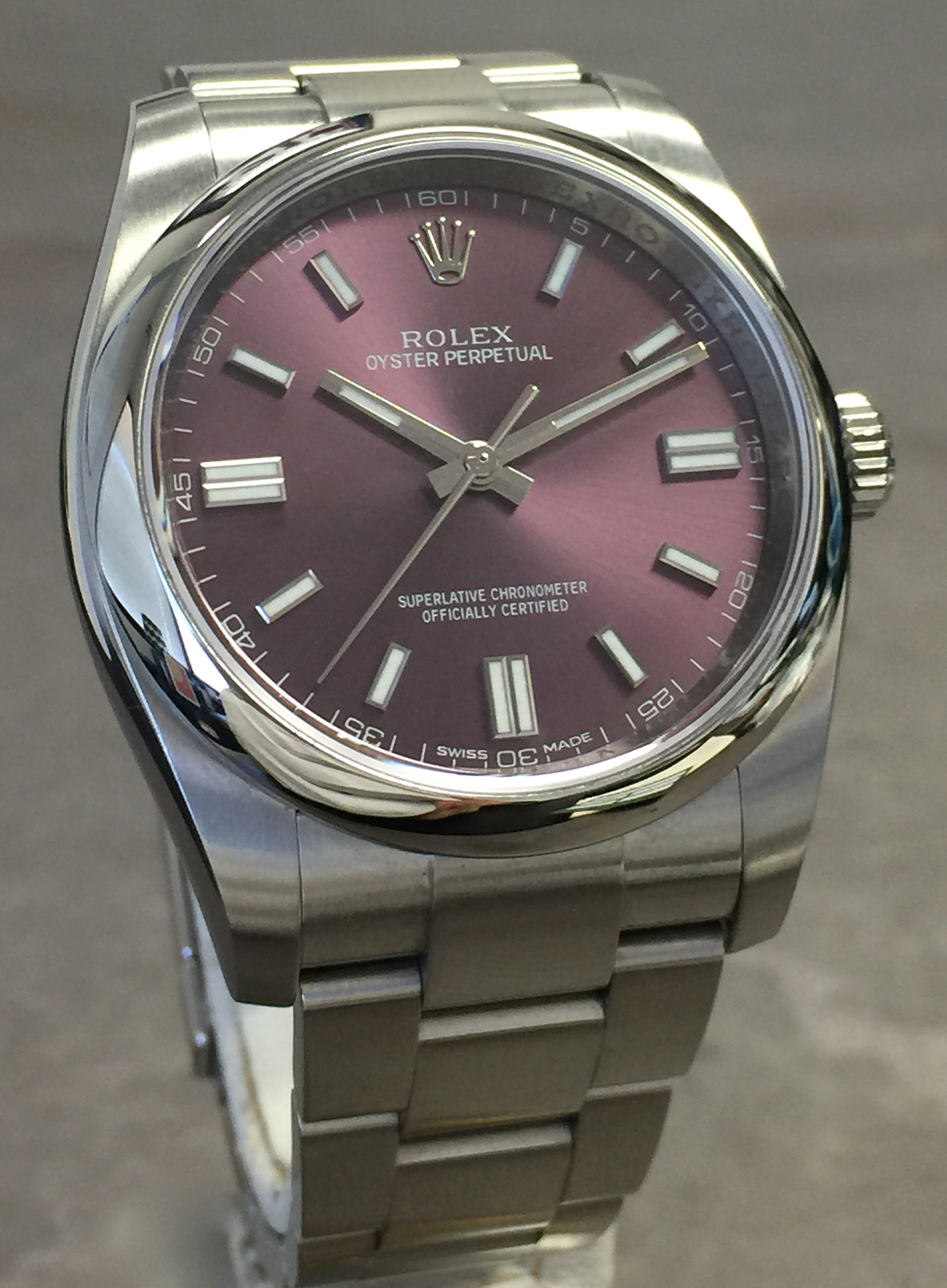 Rolex Oyster Perpetual 36mm 116000 Stainless Steel Red