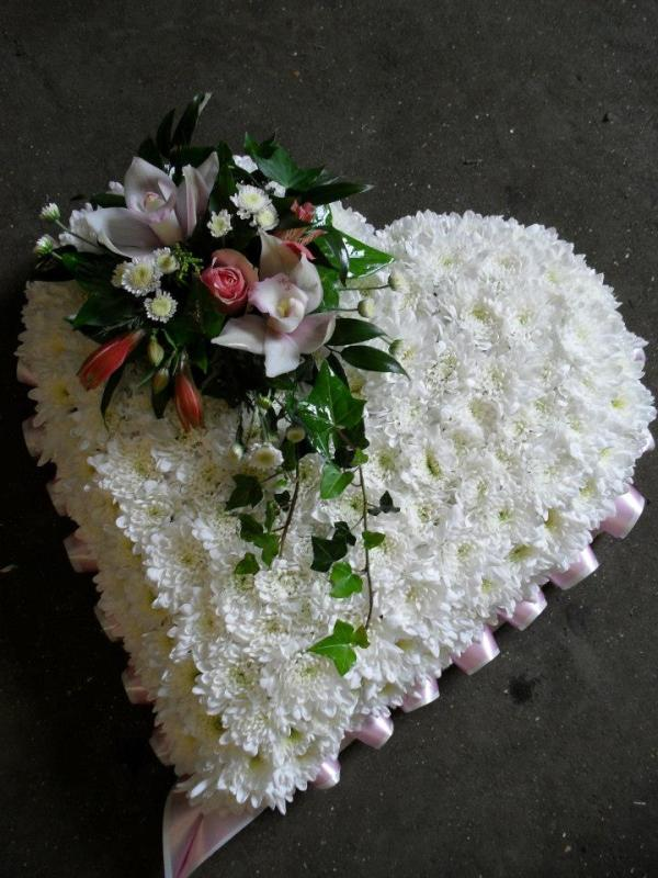 Based Funeral Heart Cushion