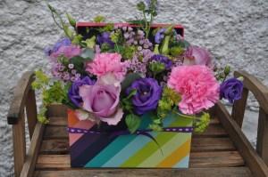 Stripe flower box