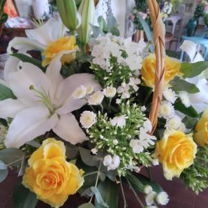 Funeral basket arrangement