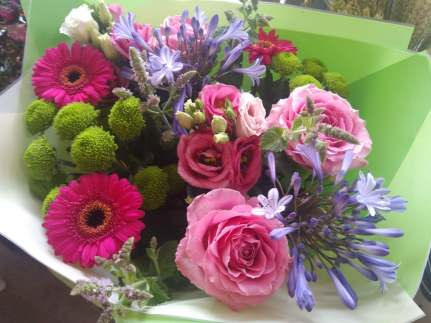Summer mixed hand-tied flowers