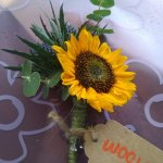 Sunflower button hole