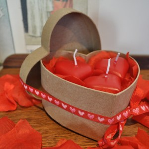 Heart-Shaped Candle Set
