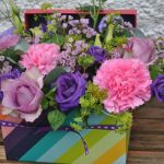 Rainbow flower box
