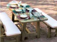Tavolo e panca in legno