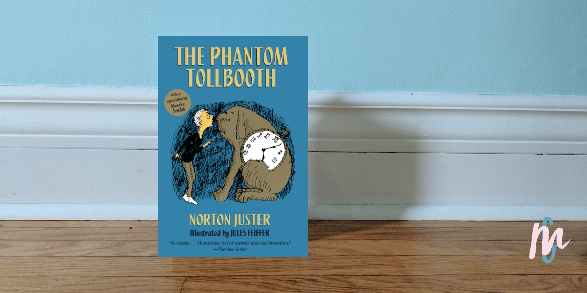 """The Phantom Tollbooth is about Milo's adventures beyond a mysterious tollbooth in his bedroom and his quest to rescue Rhyme and Reason. Milo is bored. He longs for something new. When the tollbooth arrives, and his adventure takes place, he learns adventure can be found in anything and anywhere. Suddenly, everything is """"new""""."""