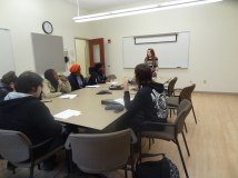 Oct. 29, 2014- Workshop at Massachusetts College of Liberal Arts