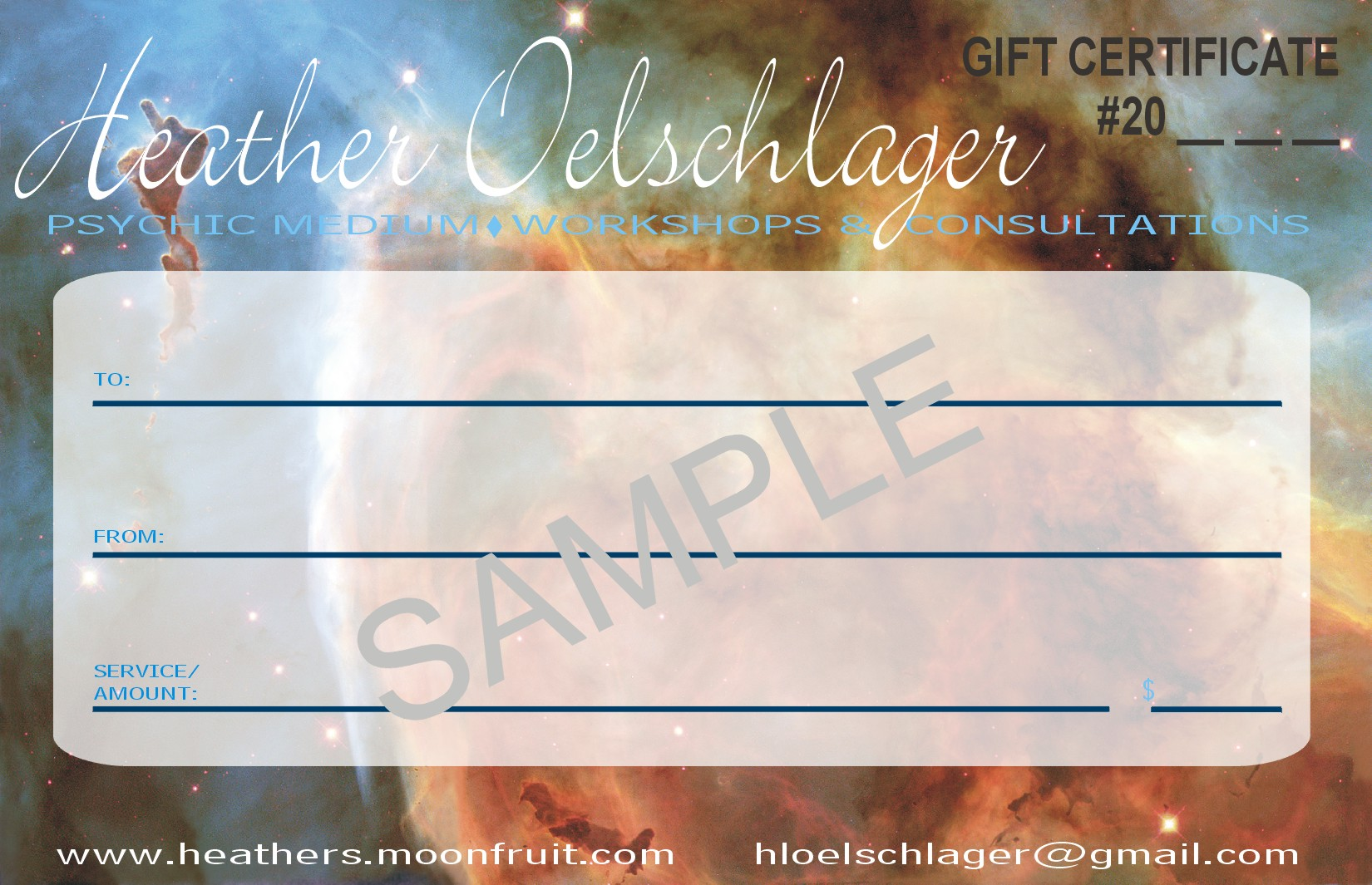 2015 Gift Certificate Special Offer