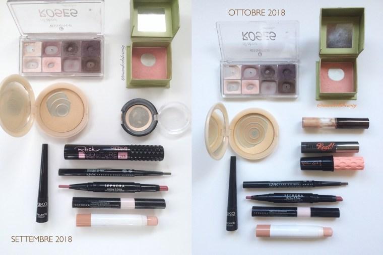 smaltimento makeup ottobre