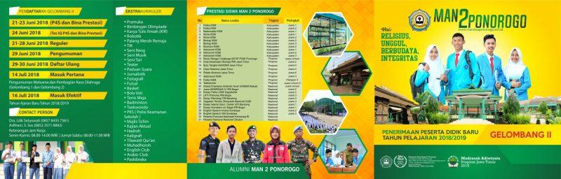 Informasi PPDB MAN 2 Ponorogo 2018/2019 Gel.2