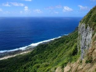 'Eua's forested coastline