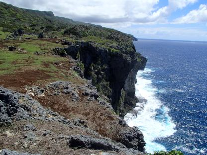 The impressive cliffs of 'Eua's East coast