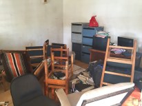 The indoor furniture dump and run