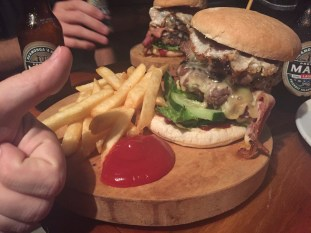 Meet Juicy Lucie, the biggest burger in town!