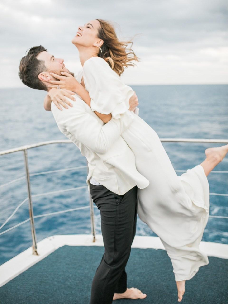 couple enjoying yacht rental in san diego