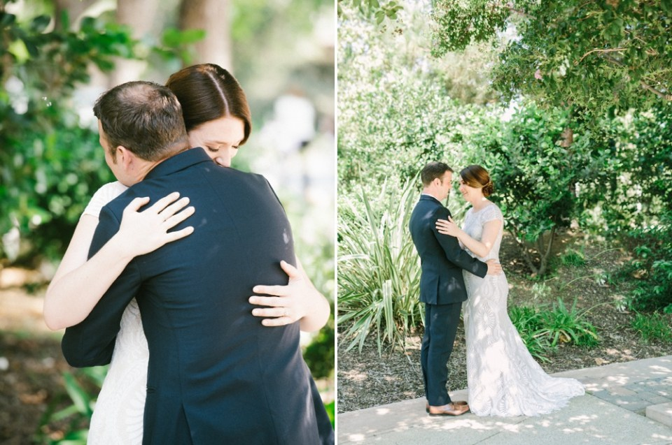 los robles greens wedding first look