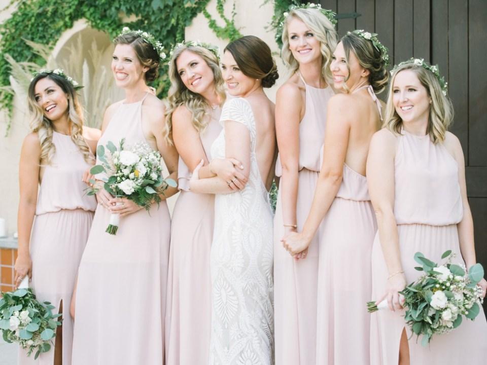los robles greens wedding bridesmaids