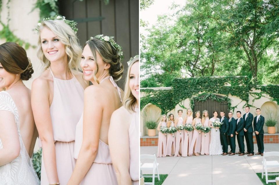 los robles greens wedding bridal party