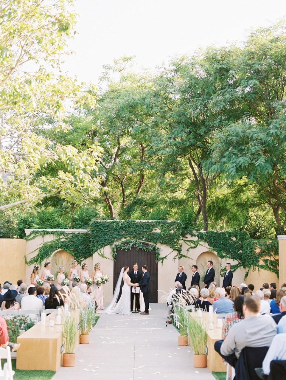 los robles greens wedding ceremony
