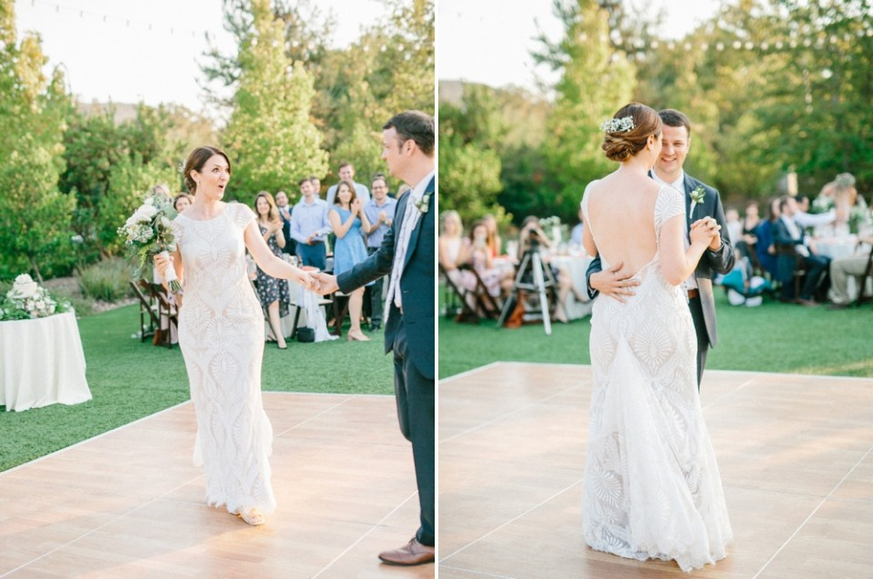 los robles greens wedding first dance