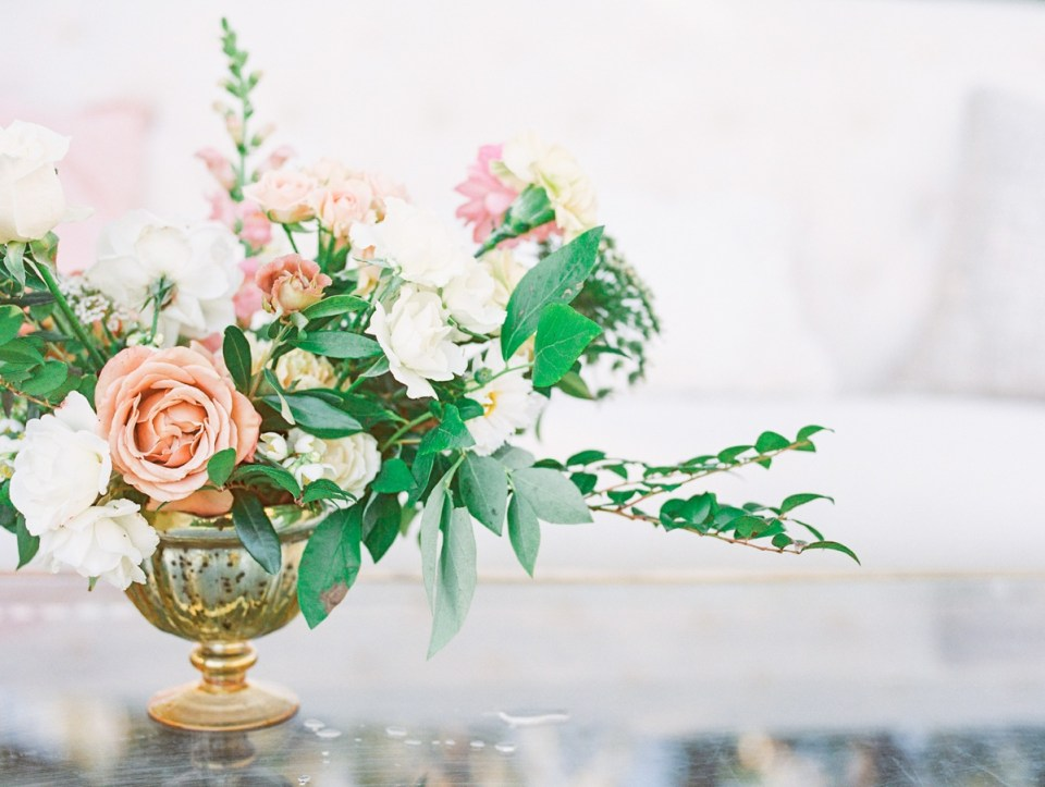Dusty Rose Florals | Ranch House At Del Sur Wedding In San Diego