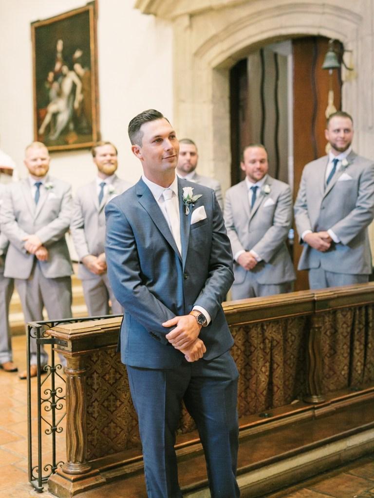 Groom Navy Suit | Monterey Wedding Venue Carmel Mission and Naval Postgraduate School Club Del Monte