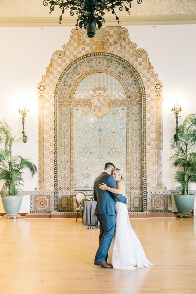 First Dance Monterey Wedding Venue | Naval Postgraduate School Club Del Monte Ballroom Reception