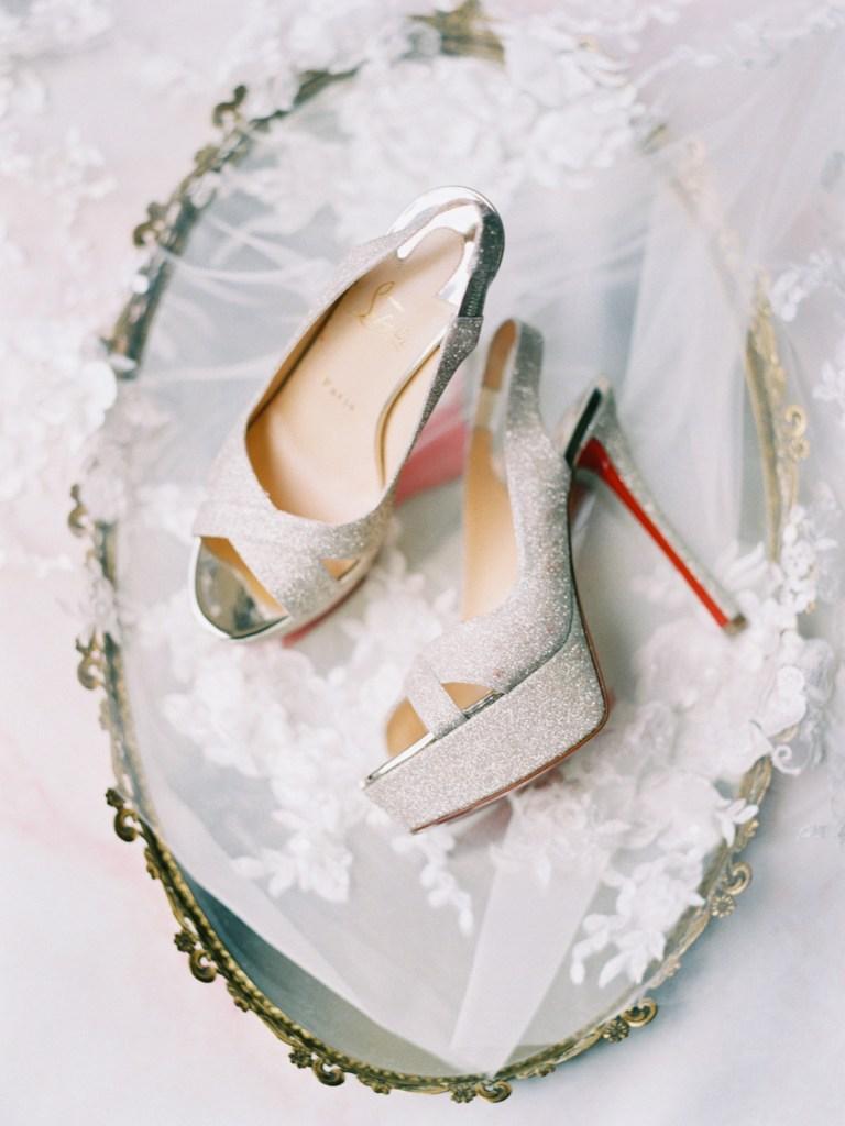 Westgate Hotel   Downtown San Diego Wedding Venue   Louboutin Wedding Shoes