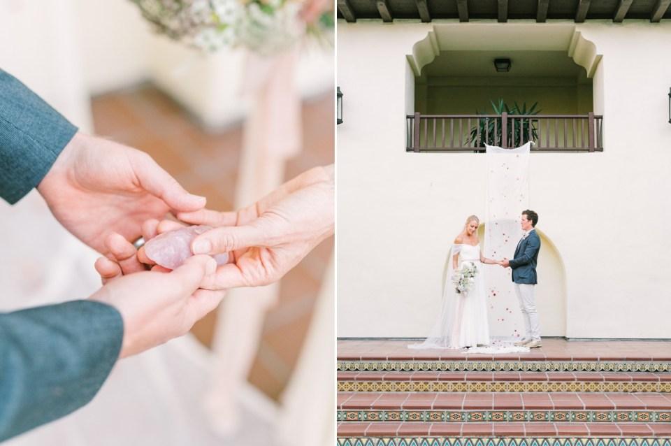 Couple Eloping At Estancia La Jolla Wedding Venue In San Diego