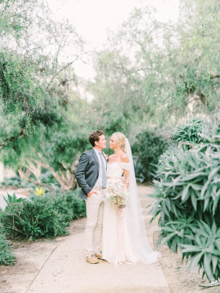 Couple At Estancia La Jolla Wedding In San Diego