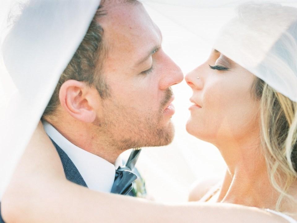 Bride and Groom in Lake Tahoe At The Resort At Squaw Creek