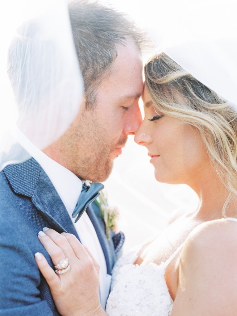 Bride and Groom At The Resort At Squaw Creek Wedding Venue In Lake Tahoe, California