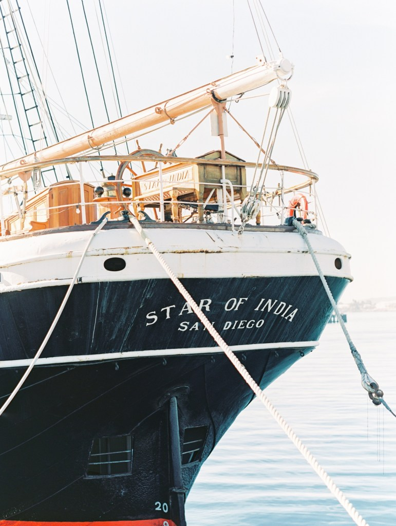 Star Of India Museum | Downtown San Diego Bay Courthouse Wedding Shot On Film By Mandy Ford Photography