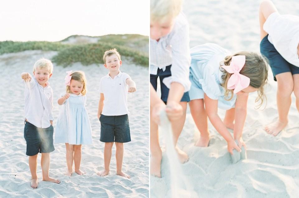 Family Beach Photo Photo Wardrobe Inspiration | shot on film by Mandy Ford Photography at Hotel Del Coronado