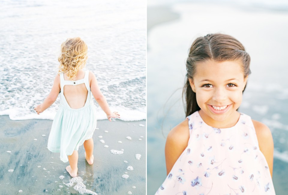 Little girl family photo wardrobe inspiration in Coronado