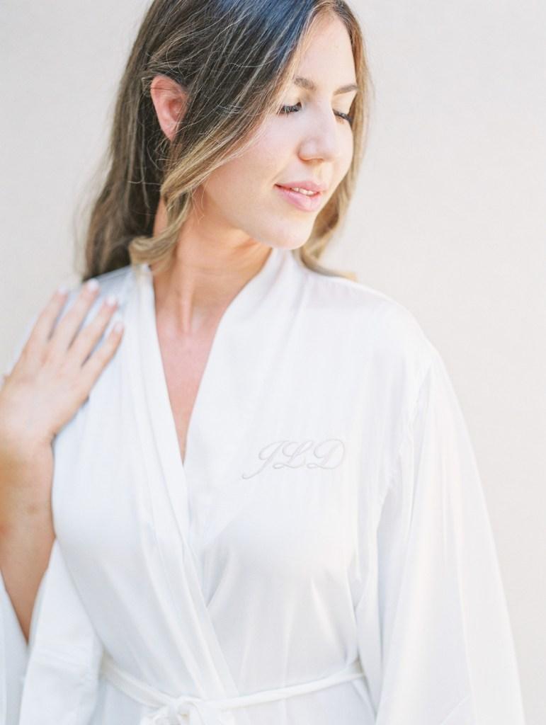 Monogrammed Bridal Robe | Orange County Jewish Wedding
