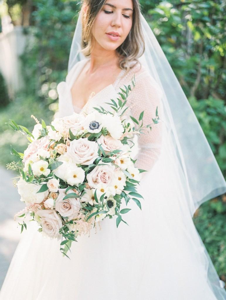 Light Pink Bouquet | Orange County Jewish Wedding