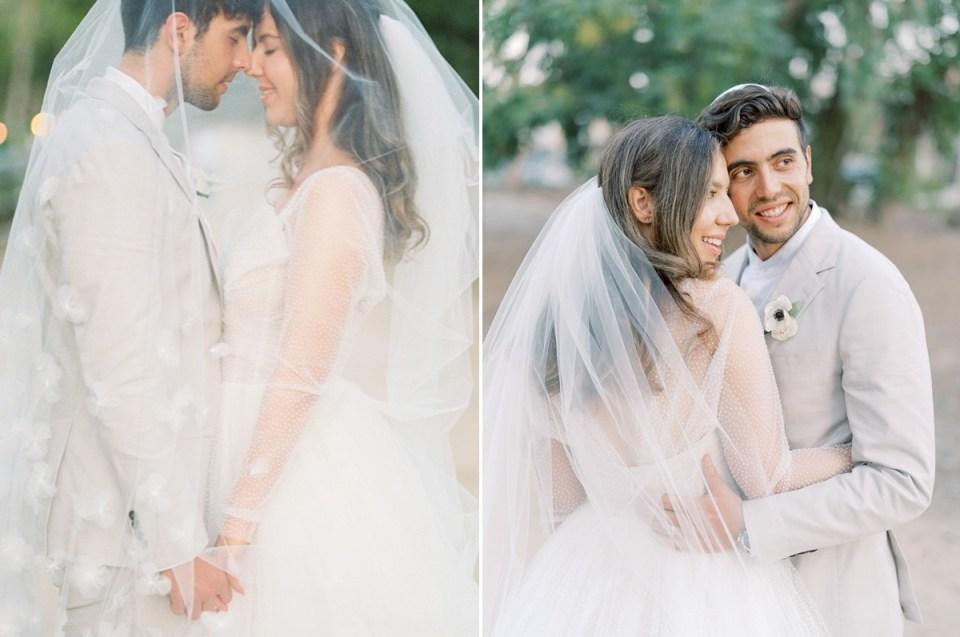 Sentimental Bride and Groom Wedding Photos at Orange County Jewish Wedding