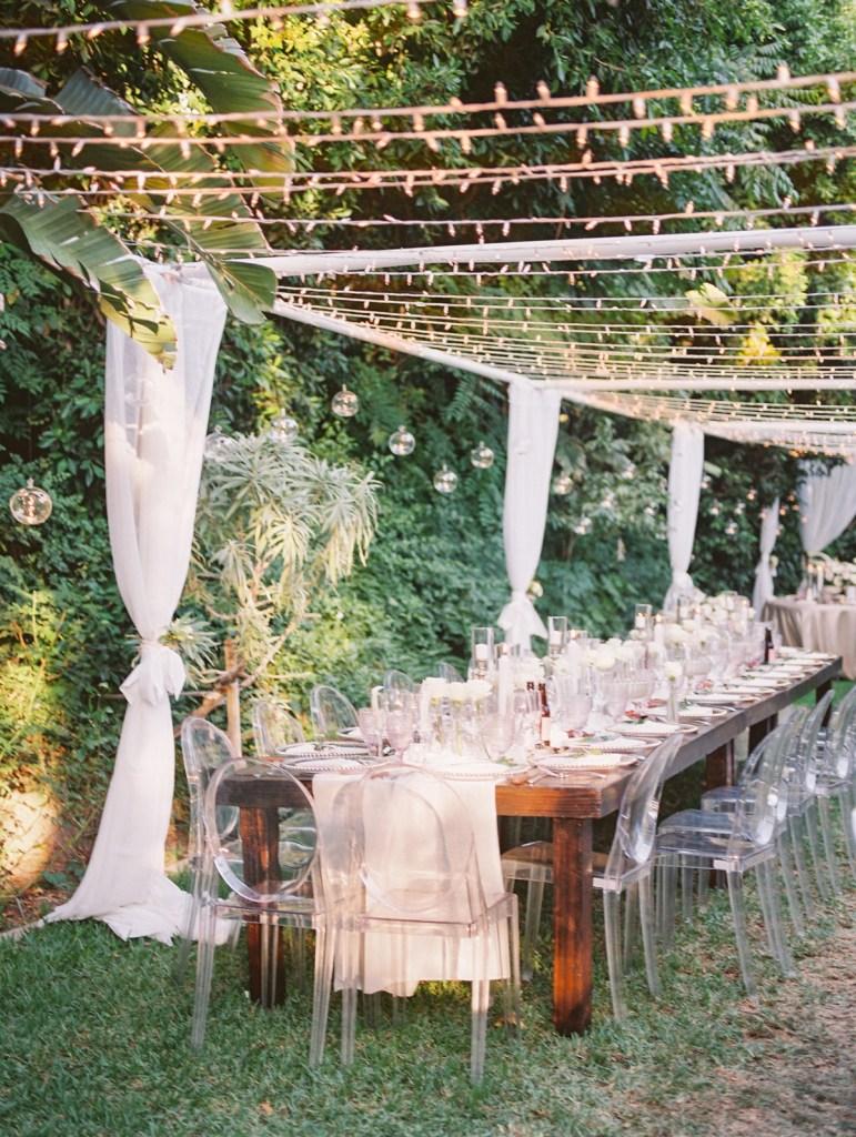 Reception Details at Orange County Jewish Wedding | shot on film by Wedding Photographer Many Ford