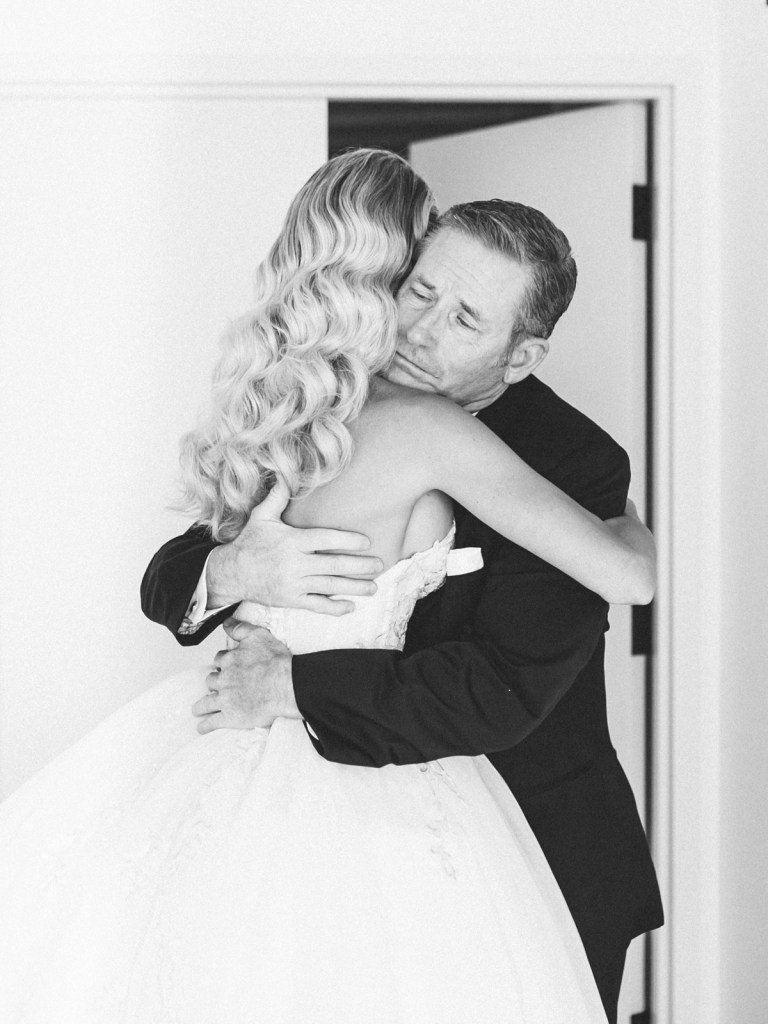 First Look With Dad At The Guild Hotel in San Diego | Shot on film by Mandy Ford Photography